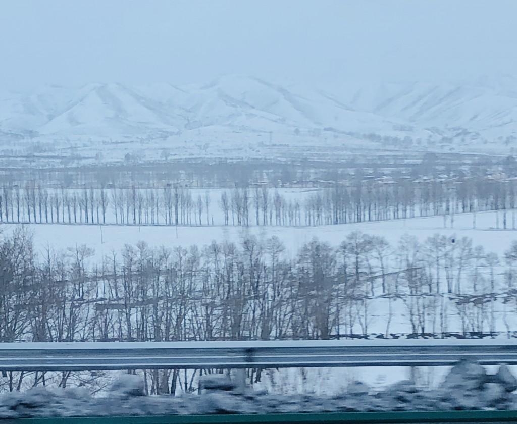 去库布齐路上的大雪
